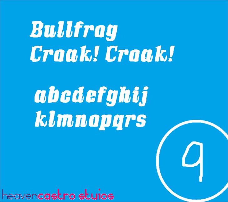 Bullfrog Font design text