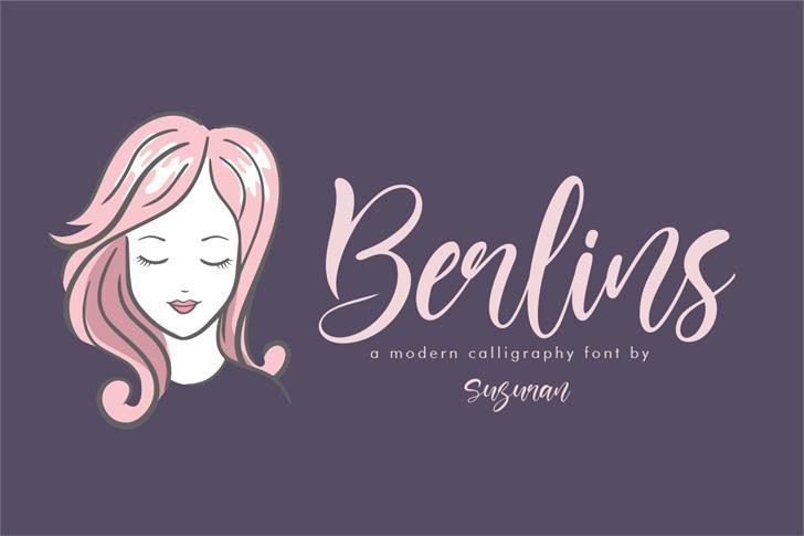 Berlins Font calligraphy design