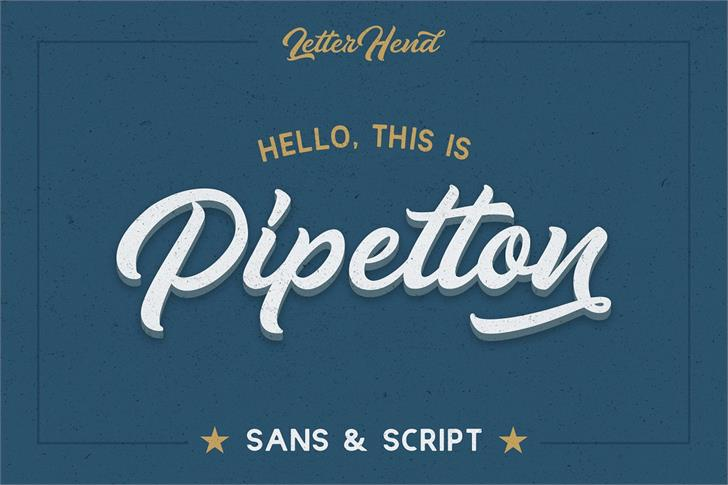 Pipetton DEMO Font typography text