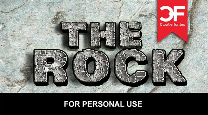 CF The Rock Personal Use Font coin metal