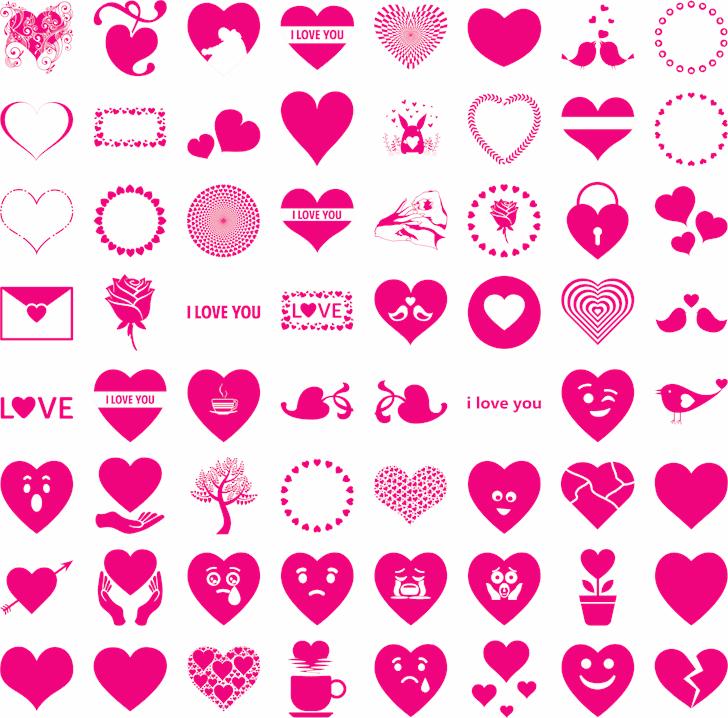 Font I Love You Font illustration design