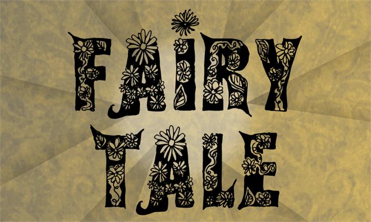 Fairy Tale Font drawing cartoon