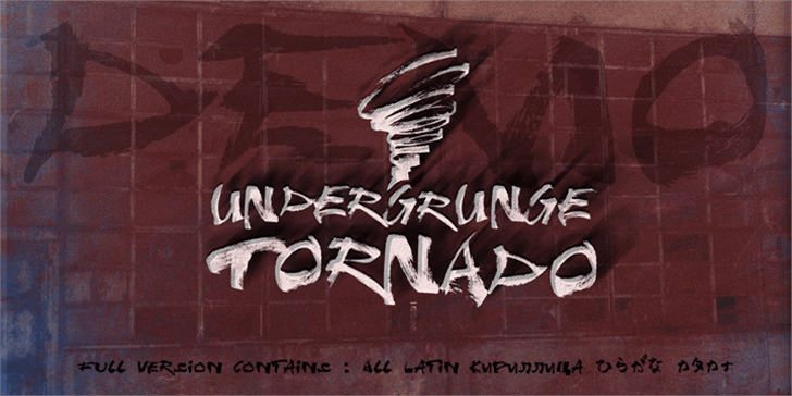 Undergrunge Tornado Demo Font handwriting poster