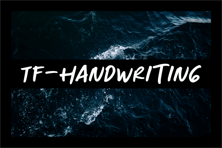 TF-Handwriting Font poster