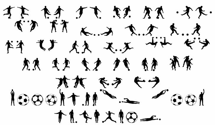 Soccer II Font Letters Charmap