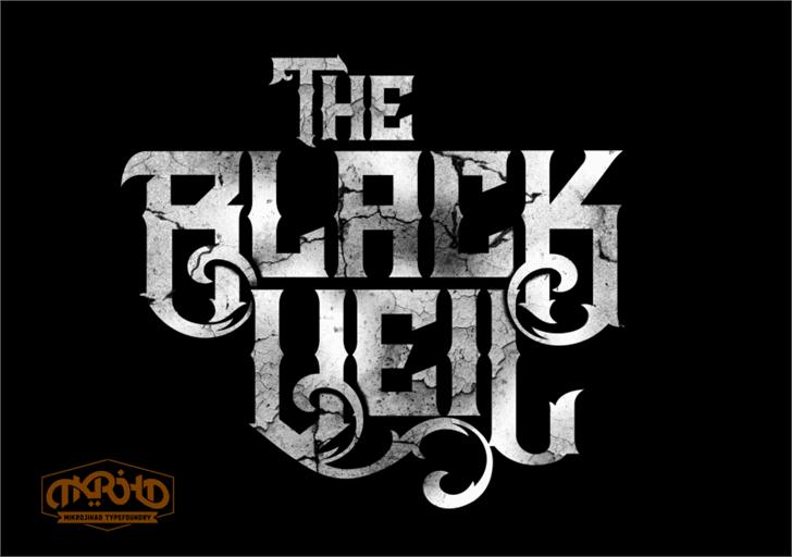 The Black Veil DEMO Font poster font