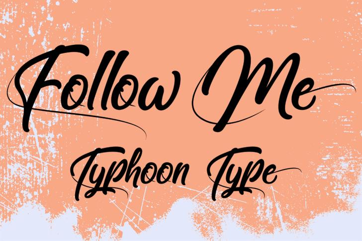 Follow Me Font handwriting design