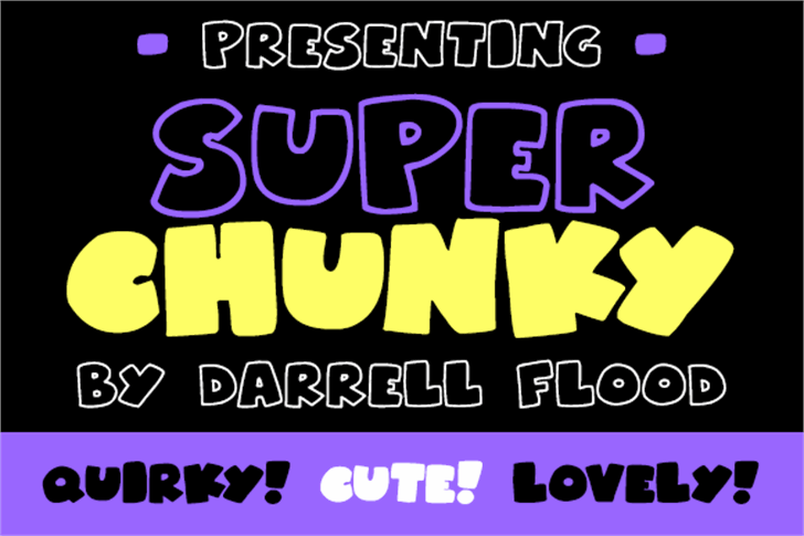 Superchunky Font poster text