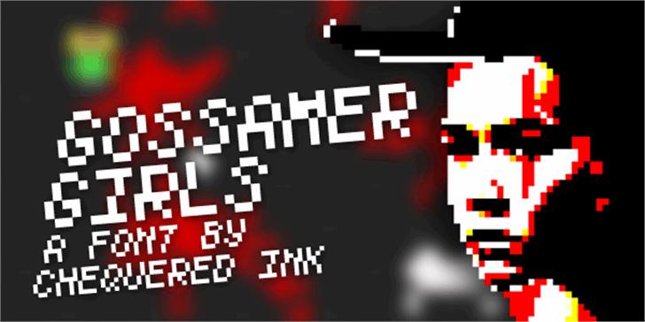 Gossamer Girls Font screenshot text