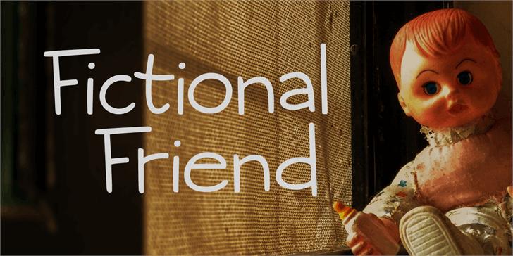 Fictional Friend DEMO Font person text
