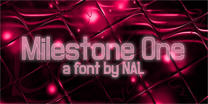 Milestone One Font poster screenshot