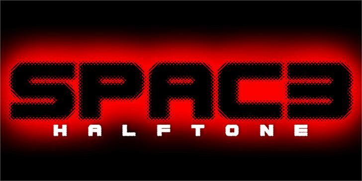 Spac3 halftone Font screenshot clock
