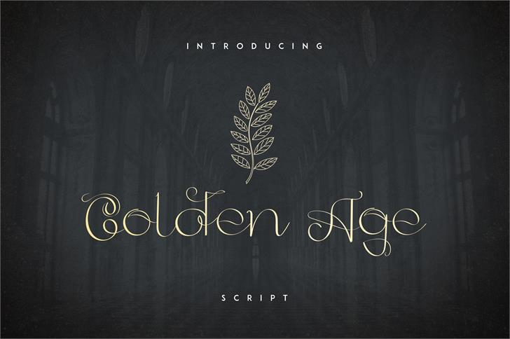 GoldenAge Font blackboard book