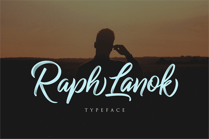 Raph Lanok Future Font poster person