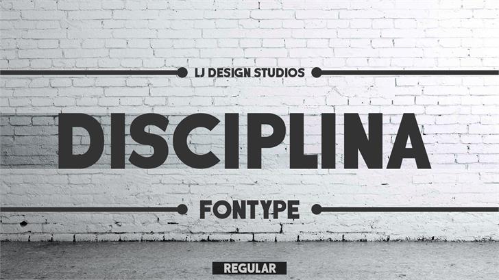 DISCIPLINA PERSONAL USE Font handwriting sign