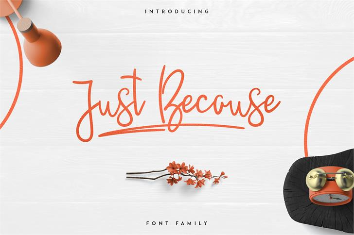 JustBecause font by vladfedotovv
