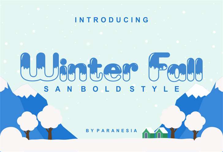 Winter Fall Font screenshot design