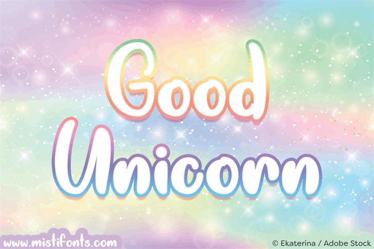 Good Unicorn Font screenshot design