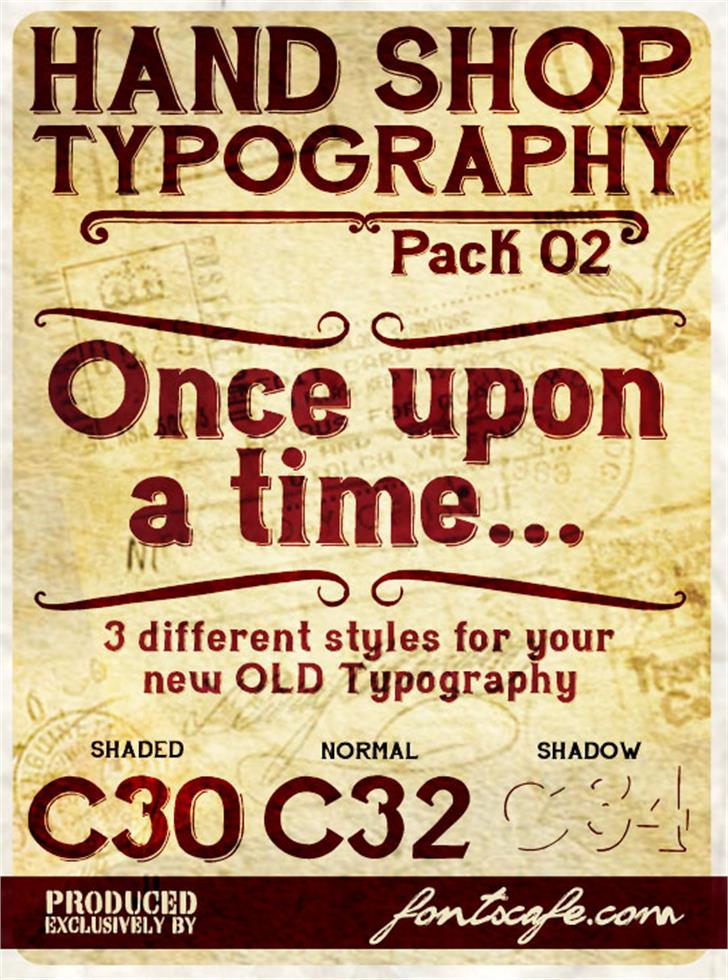 Download Hand Shop Typography C30_demo Font | Designed by FontsCafe