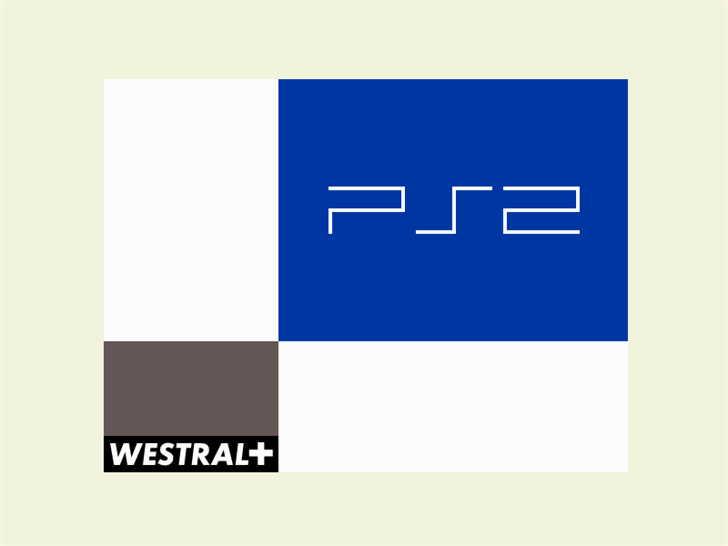 Blue Players Font design graphic
