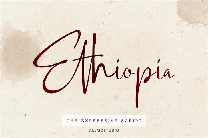 Ethiopia Demo Font handwriting