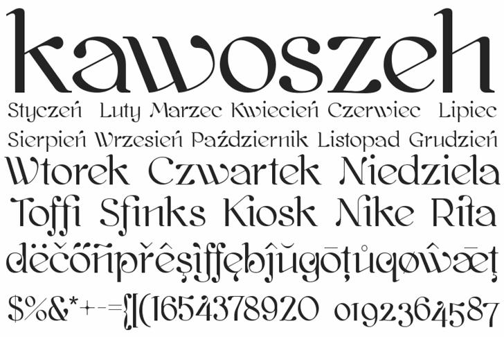 kawoszeh Font text typography