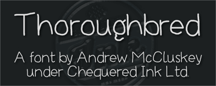 Thoroughbred Font handwriting typography
