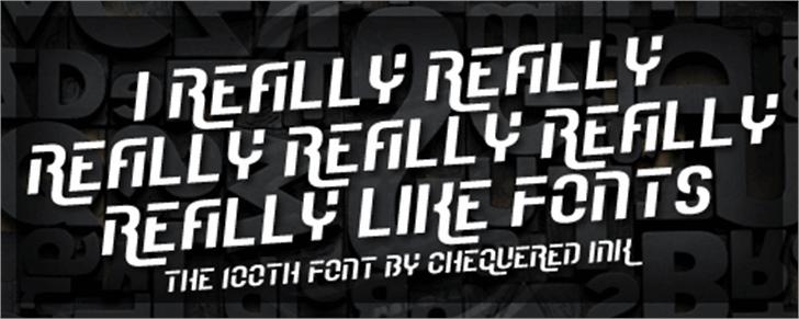 I Really Really Really Really R Font outdoor poster