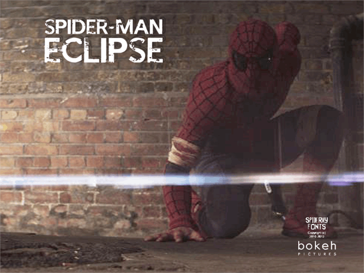 SPIDER-MAN : ECLIPSE Font clothing poster