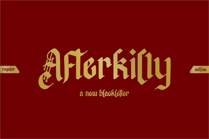 Afterkilly Font poster design