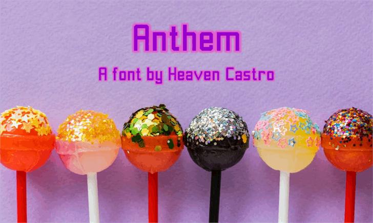 Anthem Font food dessert