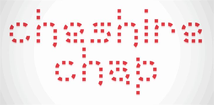 Cheshire Chap Font design illustration