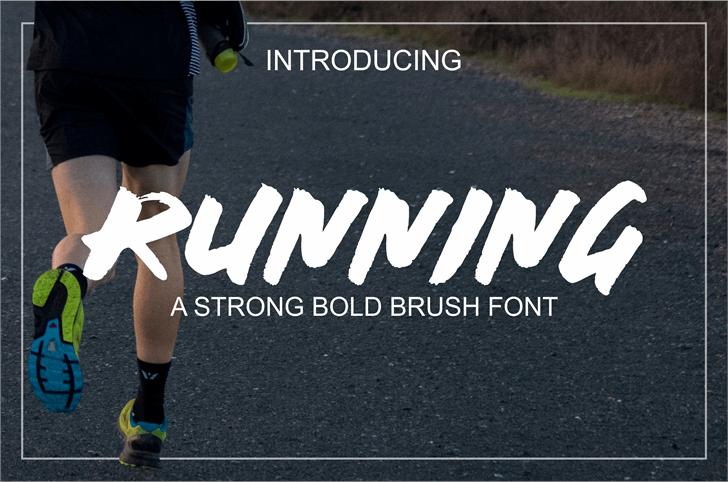 RUNNING Font poster