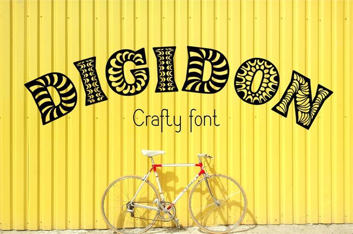 Digidon Font bicycle bicycle wheel