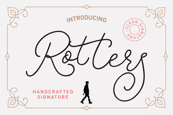 Rotters Font text handwriting