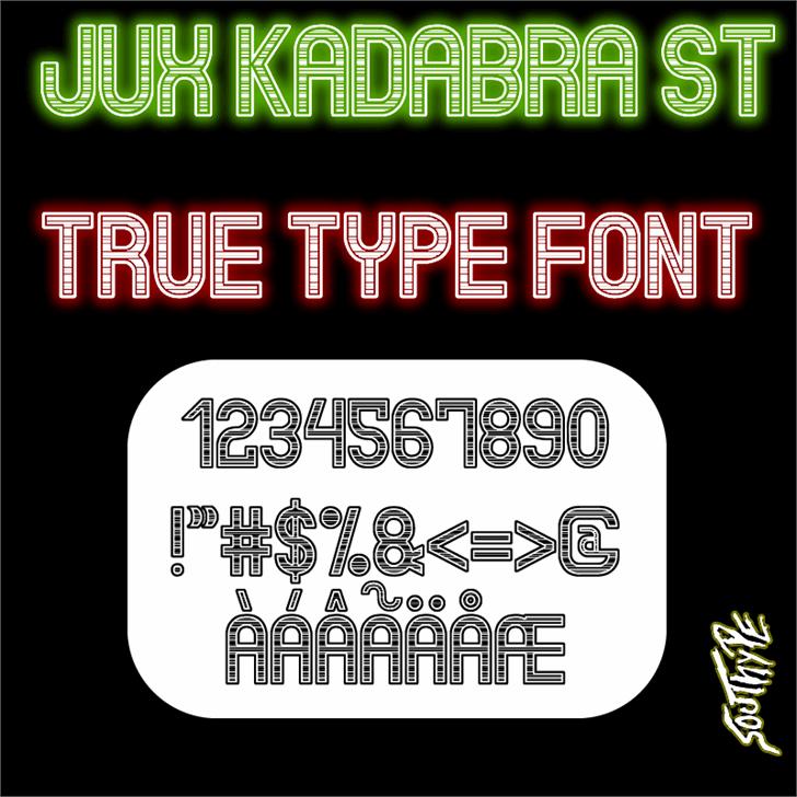 Jux Kadabra St Font poster cartoon