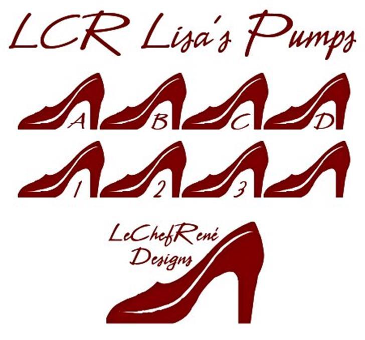 LCR Lisa's Pumps Font design cartoon