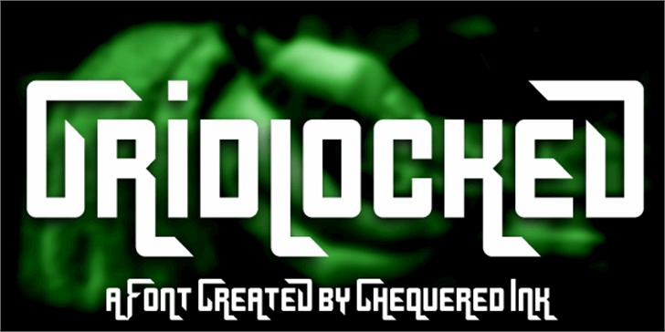 Gridlocked Font screenshot poster