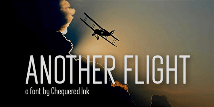 Another Flight font by Chequered Ink