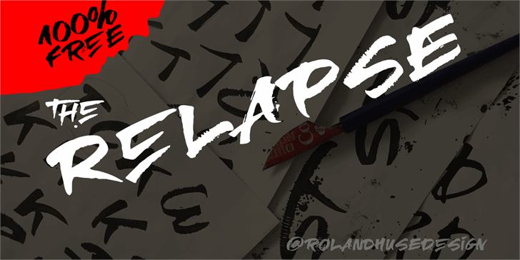 RElapse Font cartoon drawing