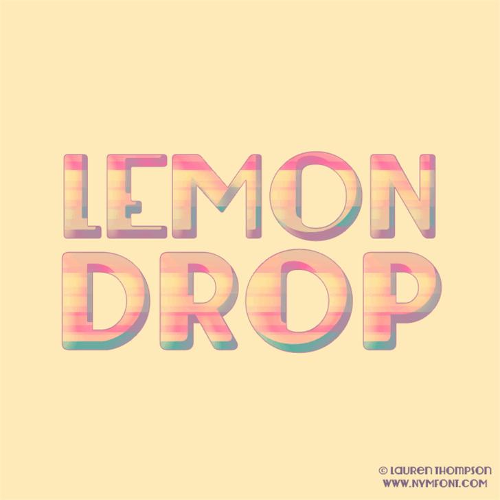 Lemondrop Font design typography