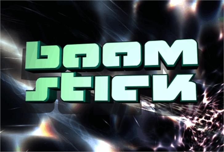 Boomstick Font screenshot poster