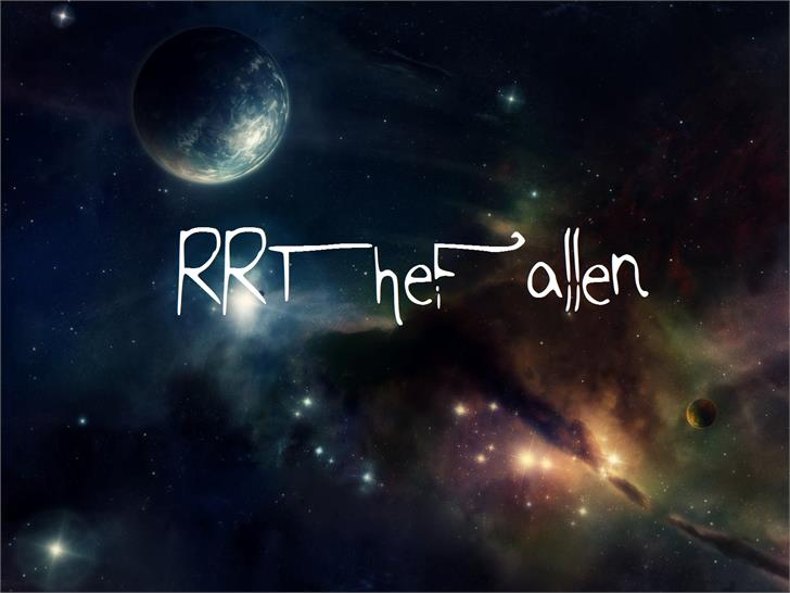 RRTheFallen font by RidiculousRed Rampage
