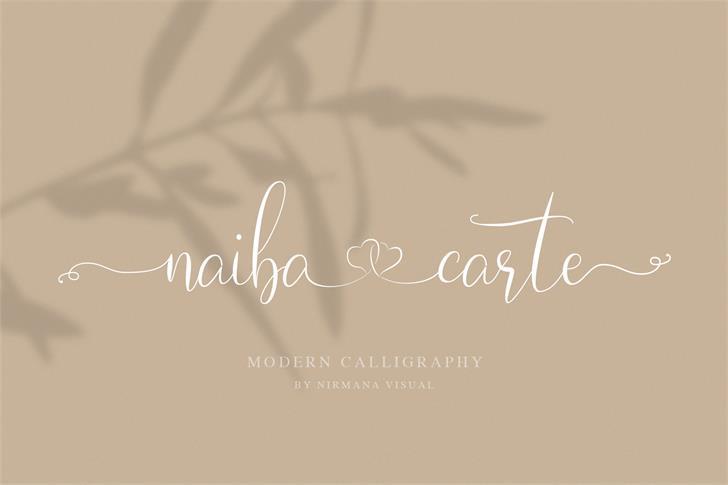 Naibacarte Font poster