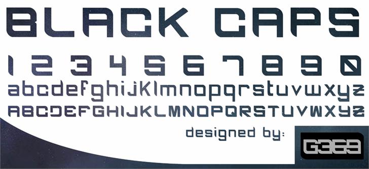 BLACK CAPS Font screenshot font
