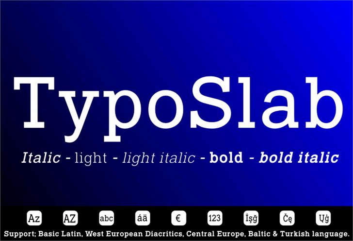 Typo Slab Font design graphic
