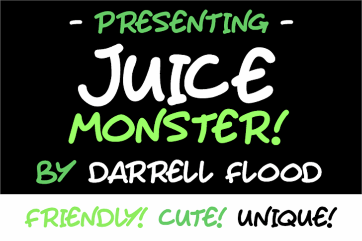 Juice Monster Font text handwriting