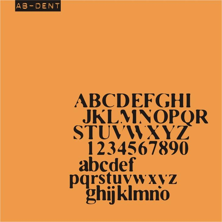 AB Dent font by redFONTS