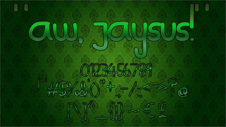Aw, Jaysus! Font handwriting sign