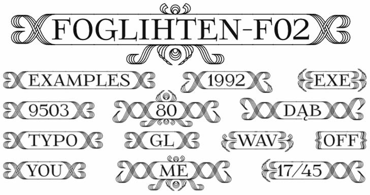 FoglihtenFr02 Font typography design